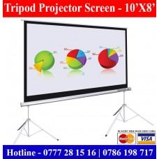 10X8 Tripod Projectors Screens Sale Price Colombo, Sri Lanka