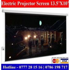 13.5X10 Electric Projectors screens sale price Colombo, Sri Lanka