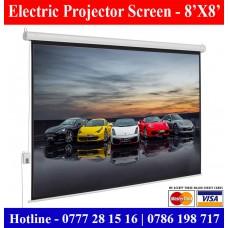 8X8 Electric Projector Screen Sale Price Colombo, Sri Lanka